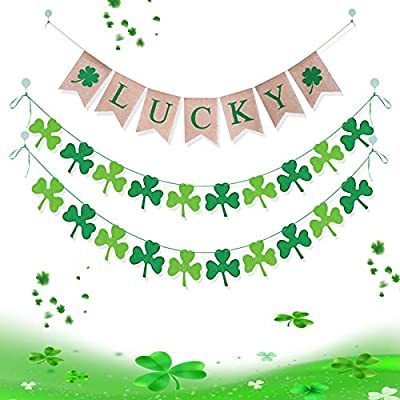 Amazon - Save 75%: St. Patrick's Day Shamrock Decorations – Lucky Letters Banner with Shamrock Ga…