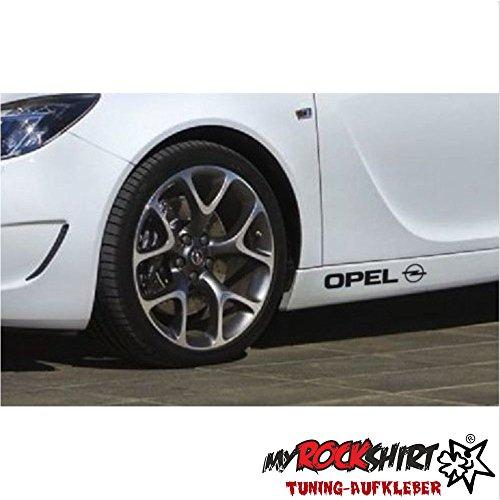 2x Opel Schweller 20cm Aufkleber Tuning Scheibe Lack TYP-MRS353 `+ Bonus Testaufkleber