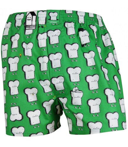 Cleptomanicx Boxershort Toast-Kelly Green-Gr.S