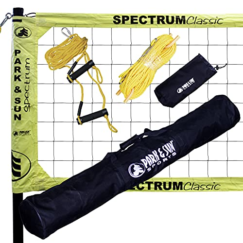 Park & Sun TS-CL Spectrum Classic Volleyball Set (Yellow Net)