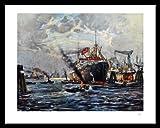 Wilhelm Tiedjen Poster Kunstdruck Bild Hamburger Hafen