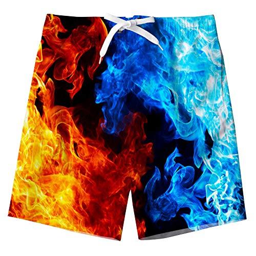 TUONROAD Bambino Nuotare Pantaloncini Divertente 3D Stampato Asciugatura Rapida Costumi da Bagno Bambini Board Shorts 11-12 Anni
