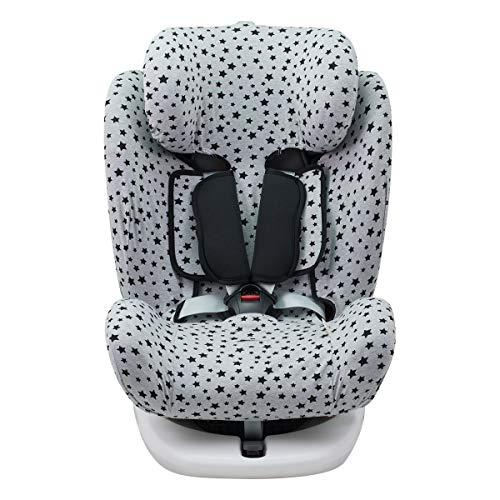 JANABEBE Funda para Star Ibaby, Baby Auto Fix Noe (BLACK STAR)