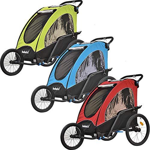 Kinderfahrradanhänger Fahrradanhänger Aluminium Jogger 3in1 Anhänger Kinderanhänger 333-03 (BLAU)