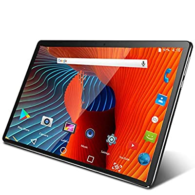 Tablet 10 Inch Android 9.0 3G Phone Tablets with 32GB Storage Dual Sim Card 5MP Camera, WiFi, Bluetooth, GPS, Quad Core, HD Touchscreen, Support 3G Phone Call (Black) by Zonko