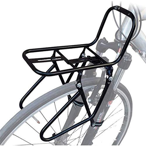 SBDLXY Portapacchi Anteriore per Mountain Bike, Staffa Anteriore per Esterno in Acciaio per Portapacchi Anteriore, Adatto a Tutti i Freni a Disco a V, Telaio di Supporto in Lega di Alluminio