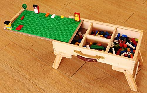 Suhey Mesa de juego de almacenamiento de la ciudad plegable por encargo de madera niños niño niña