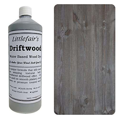 Littlefair's Water Based Wood Stain & Dye - Pastel Range (500ml, Driftwood)