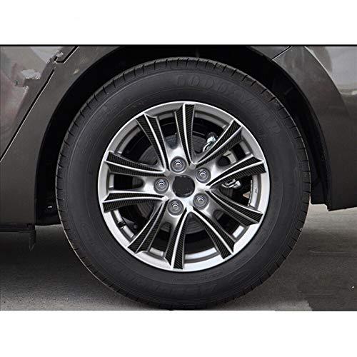 Automóviles Tapacubos Cubierta Etiquetas engomadas de la fibra de carbono de la fibra de carbono del concentrador de la seda del coche para Mazda 3 M3 Axela 2013 2014 2015 Decalación externa