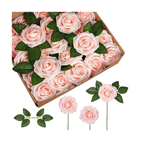 InnoGear Artificial Flowers, Faux Flowers Fake Flowers Roses Perfect for DIY Wedding Bouquets Centerpieces Bridal Shower Party Home Flower Arrangement Decorations