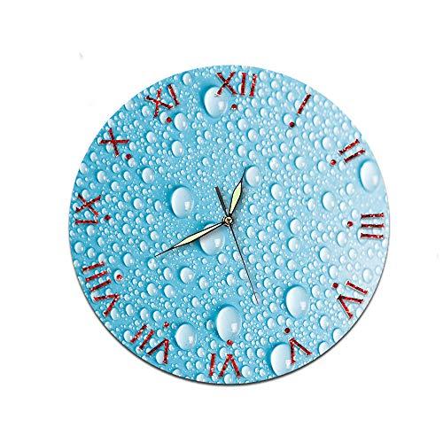 LUOYLYM Waterdrop Dekorative Wanduhr Acryl Uhr Stummschaltung Startseite Kreative Wanduhr Craft Clock C224-7 (Luminous Pointer) 28CM