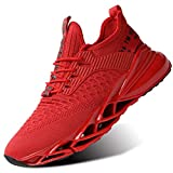 Mens Air Cushion Running Shoes Non Slip Fashion Sport Gym Jogging Tennis Fitness Sneaker Walking Volleyball Basketball Red 12