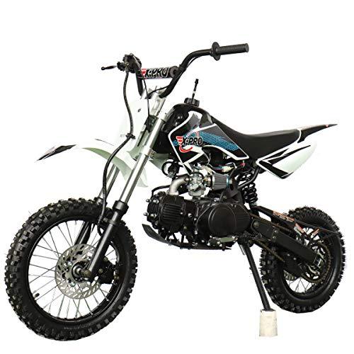 X-PRO Bolt 125cc Zongshen Engine Kids Dirt Bike Pit Bike Youth Dirt Pit Bike with 4-Speed Semi-Automatic Transmission, Big 14'/12' Tires!(Black)
