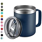 Best Mug Insulated - 12oz Stainless Steel Insulated Coffee Mug with Handle Review