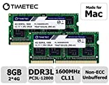 Timetec Hynix IC 8GB Kit (2x4GB) compatible with Apple DDR3 1600MHz PC3-12800 SODIMM Memory Upgrade For selected MacBook Pro, iMac ,Mac mini / Server