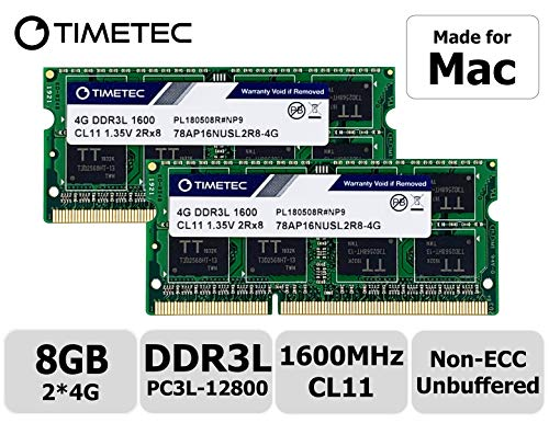 Timetec Hynix IC 8GB Kit (2x4GB) DDR3 1600MHz PC3-12800 SODIMM Memory Upgrade für Mac (8GB Kit (2x4GB))