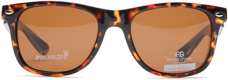 Anais Gvani Classic Wayfarer Unisex Polarized Sunglasses UV 400 Predection w Case