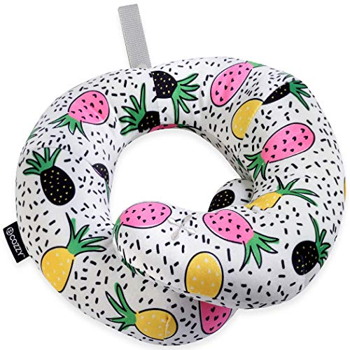 BCOZZY Chin Supporting Patented Travel Pillow - Prevents The Head from Falling Forward in Any Sitting Position, Providing Comfort and Support for The Neck and Head. Adult Size (Trendy Pineapple)