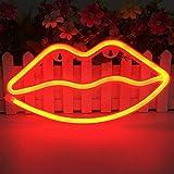 LED Lippen geformt Neon Signs romantische Kunst dekorative Lichter Wand-Dekor für Studio Party...