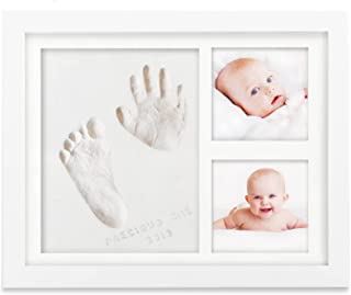 Baby Handprint Footprint Keepsake Kit - Baby Prints Photo Frame for Newborn - Baby Nursery Memory Art Kit Frames - Baby Sh...