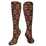 Calcetines altos de la rodilla para hombres mujeres dibujos animados baloncesto para deportes senderismo manguera medias