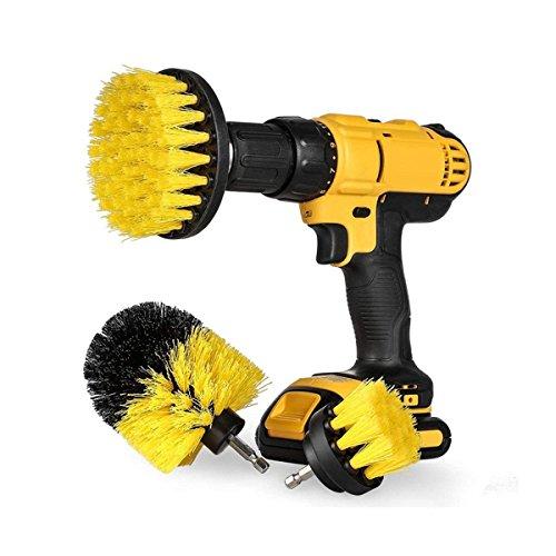電動掃除用ブラシ、Delaman クリーニングブラシ 電気ドリル用 キッチン、バスルーム、タイヤ、カーペット、クリーナーセット 3種類のブラシ