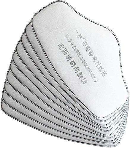 DK177 Filtro de carbón activado de algodón, 4 capas, filtro electrostático reemplazable a prueba de polvo (10 unidades)