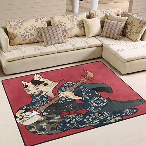Mnsruu Tapis japonais pour salon et chambre à coucher 160 x 122 cm