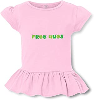 Free Hug Short Sleeve Toddler Cotton Girly T-Shirt Tee