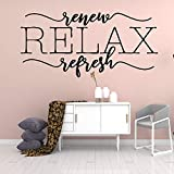 xinyouzhihi Cita Creativa Relax Family Wall Stickers Murasl Art Home Decor Kids Room Nature Decor DIY PVC Accesorios de decoración del hogar 43x90cm