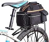 Bolsa de asiento trasero para bicicleta Bolsa de almacenamiento Bolsa para baúl de rejilla Paquete de bolso Soporte para respaldo de asiento trasero Portaequipajes para bicicleta al aire libre Bolsa
