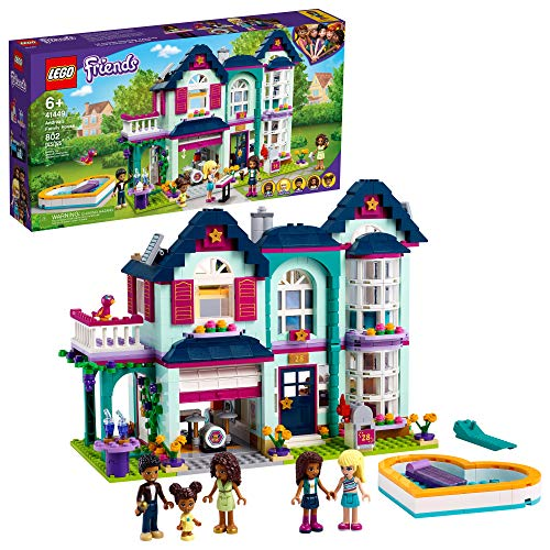 LEGO Friends Andrea's Family House 41449 Building Kit; Mini-Doll Playset is Great Gift for Creative...