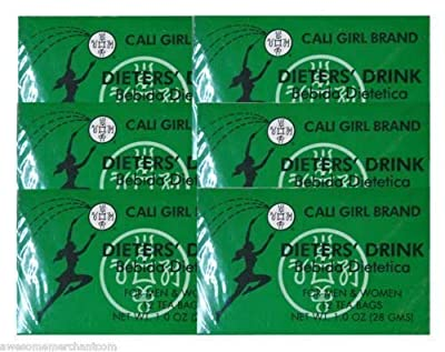 6 Boxes of Cali Girl Dieter's Tea for Men and Women Total of 72 Teabags by Cali Girl