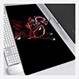 ZDVHM Large Gaming Mouse Pad Deadpool Extended Keyboard Mouse Mat Marvel Superhero Game Mousepad for Office Home Non-Slip PC Desktop Table Mouse Pad (Color : V, Size : 8003003mm)