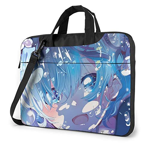 Laptop Case Computer Bag Sleeve Cover Re Life in a Different World from Zero Rem Waterproof Shoulder Briefcase 13 14 15.6 Inch