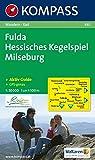 KOMPASS Wanderkarte Fulda - Hessisches Kegelspiel - Milseburg: Wanderkarte mit Kurzführer und...