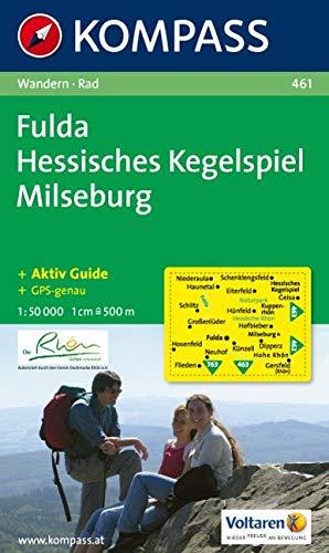 KOMPASS Wanderkarte Fulda - Hessisches Kegelspiel - Milseburg: Wanderkarte mit Kurzführer und Radwegen. GPS-genau. 1:50000 (KOMPASS-Wanderkarten, Band 461)