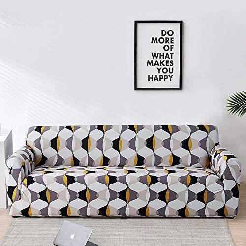 WXQY Fundas de Tela Escocesa elástica Funda de sofá elástica Funda de sofá de protección para Mascotas Esquina en Forma de L Funda de sofá Todo Incluido A29 2 plazas
