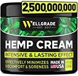 Hemp Cream 4 fl oz - Made in USA - Natural Hemp Extract Cream - for Discomfort in Knees, Joints and Lower Back - Hemp Oil Extract Cream with Arnica, MSM & Menthol