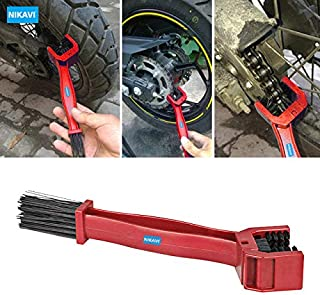 NIKAVI Universal Motorcycle Chain Cleaning Brush (Red)
