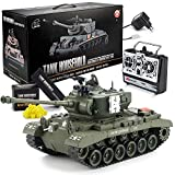 GOODS+GADGETS Ferngesteuerter RC M26 Pershing 2.4GHz Panzer Snow Leopard Tiger 1:16; Schuss-Funktion, Sound, RTR(Pershing Snow Leopard) -