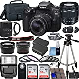 Canon EOS 90D DSLR Camera with EF-S 18-55mm f/3.5-5.6 is STM Lens & Preferred Accessory Bundle – Includes: 2X 32GB SDHC Memory Card, Extended Life Battery, Case, Filters & More
