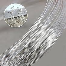 5 rotoli ogni rotolo 32,8 piedi UR URLIFEHALL Filo di alluminio piatto argentato largo 18 gauge filo metallico artistico per fai da te scultura e artigianato creazione di gioielli