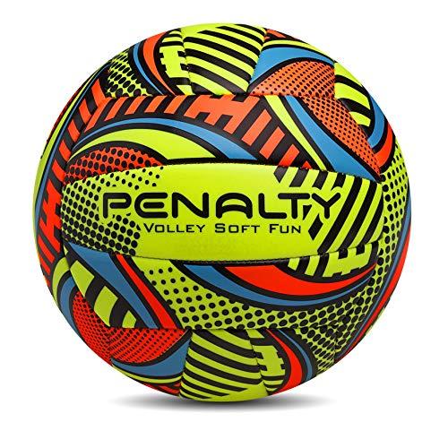 Bola Vôlei Soft Fun VIII Penalty, Amarelo, 67cm