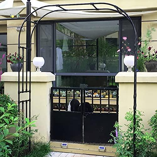 LJHSS Arco de jardín,Arco de Rosas Puerta Garden Archway Enrejado de Acero,para jardín Exterior Eventos