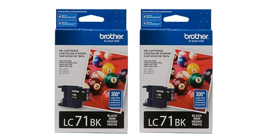 Brother LC71BK Ink Cartridge (Black, 2-Pack) in Retail Packaging