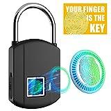 Fingerprint Padlock, IP65 Waterproof Smart Padlock Security Biometric Padlock, Fingerprint Lock Thumbprint...