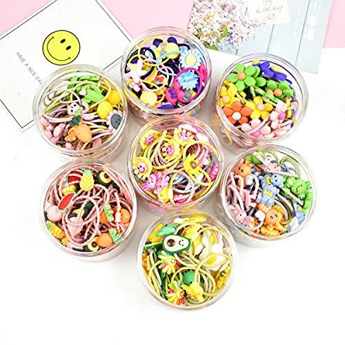 Seatecks - 70 cintas elásticas para el pelo y lindos clips para el pelo para niñas y bebés, diademas para el pelo