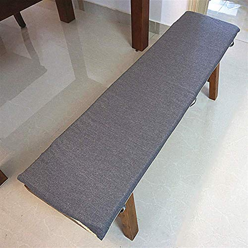 LIYANJIN Indoor Outdoor Chaise Lounger Cushion,Solid Color Long Bench Seat Cushion,Swing Chair Cushion Patio Seat Cushion W Removable Cover Gray 30x40x3cm