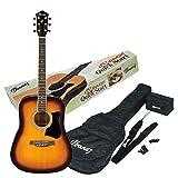 Ibanez V50NJP-VS Acoustic Guitar Pre Pack, Dreadnought, Natural High Gloss.(VS)